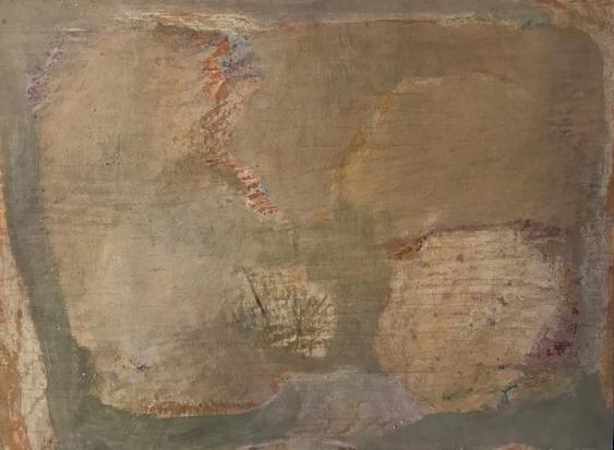 Ohne Titel  Eitempera auf Holz 28.5x40cm  1969  PREIS: 950 EUR
