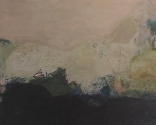 Ohne Titel  Eitempera auf Sperrholz 42 x 52 cm  1965  PREIS: 590 EURO