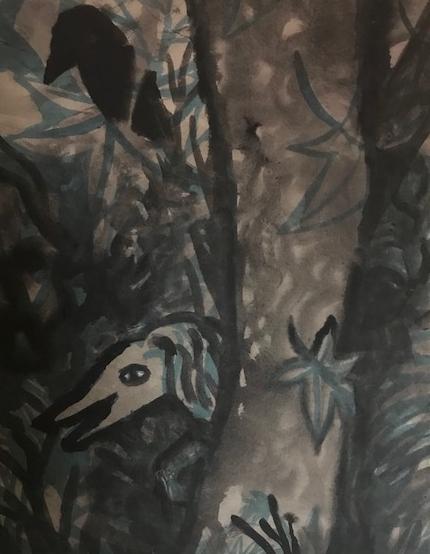 Dschungel Gouachen  1983  Aquarel auf Ingres Papier 70 x 50  PREIS: 333 EURO