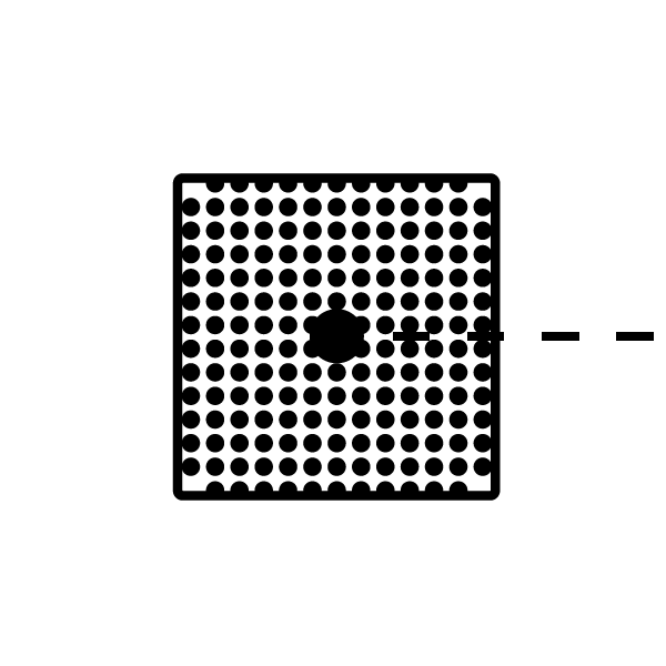 1. Digital Design Icon Digital Design is represented by the app iconwith rounded cornersfilled with a pixel inspired point-grid. The dotted line that connects all three icons connects in the center with a dot representing human computer interaction.