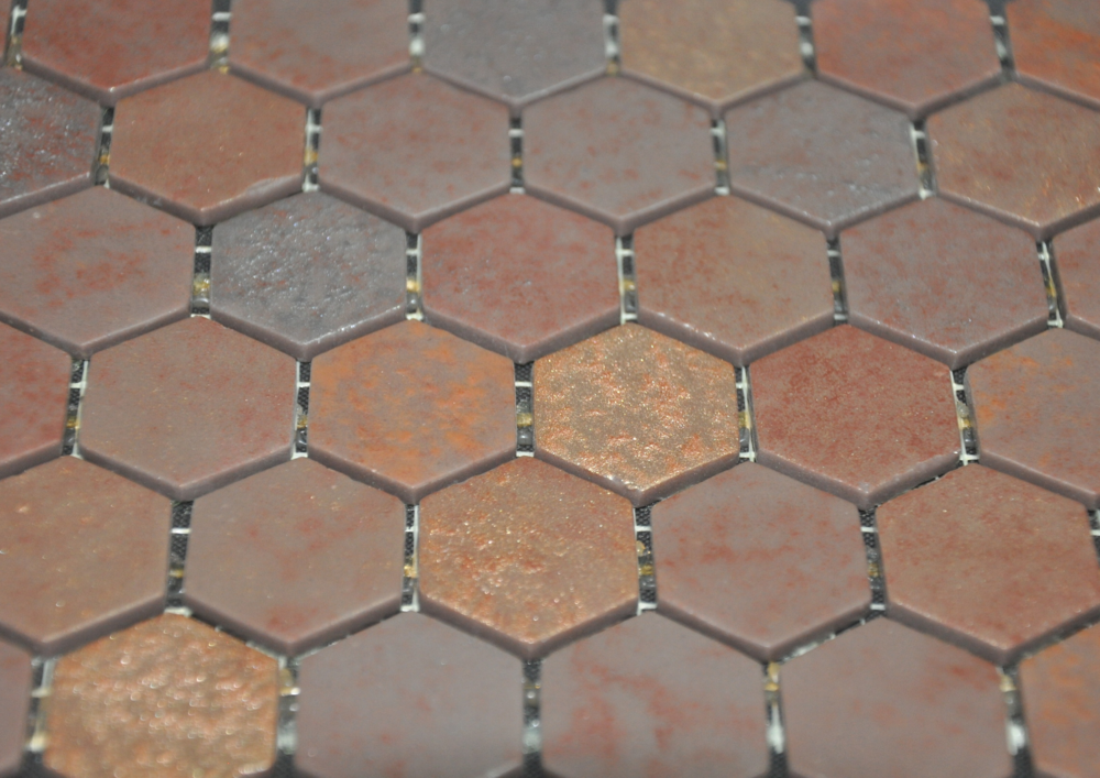 Hexagon Copper Leather