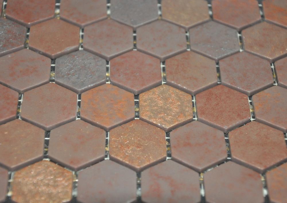 Hexagon Copper Leather