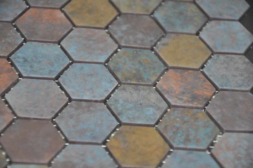 Hexagon Slate Leather