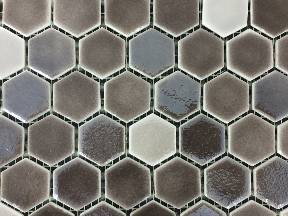 Hexagon Brown Organic