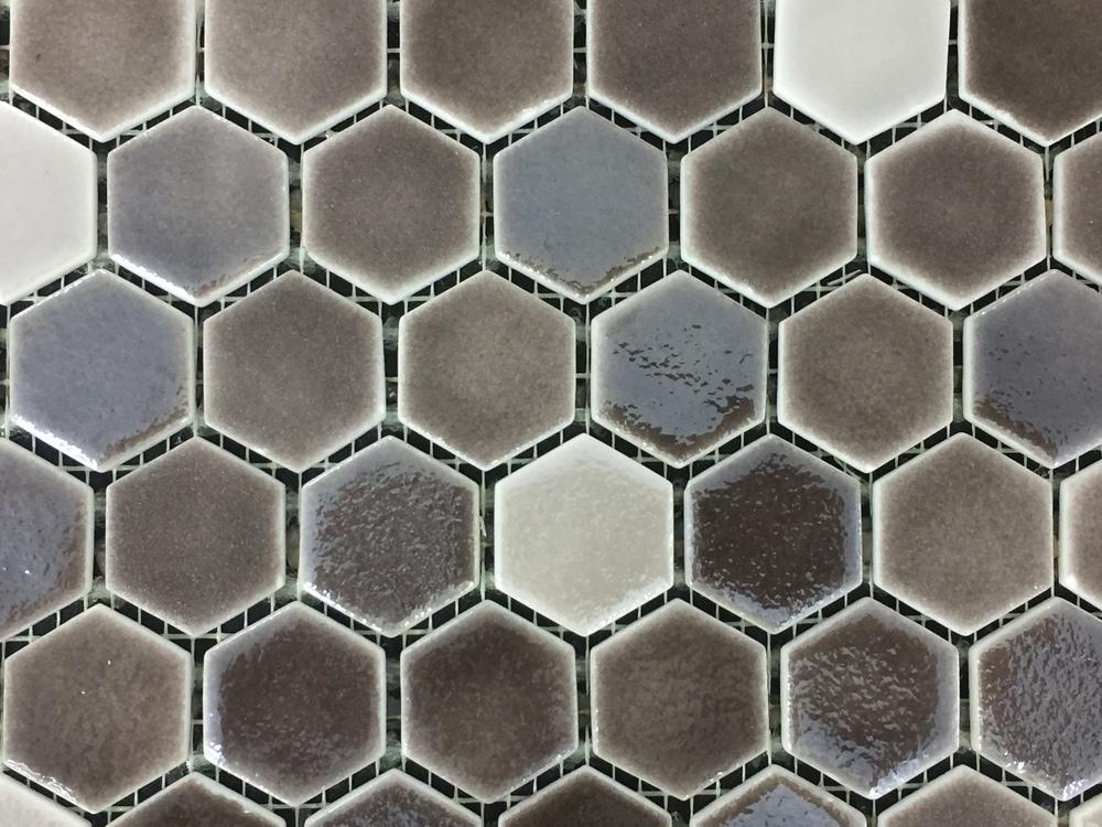 Hexagon Brown Organic