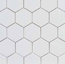 White Hexagon 2""