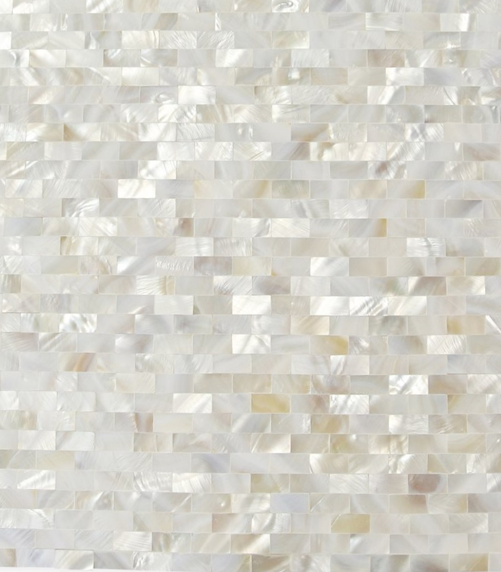 White Pearl Brick No Grout
