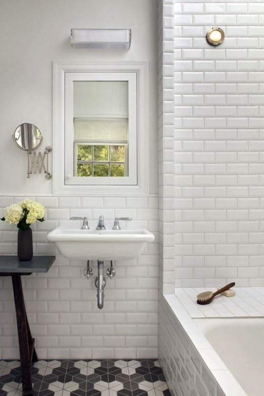 Bright White Beveled Naturali Stone