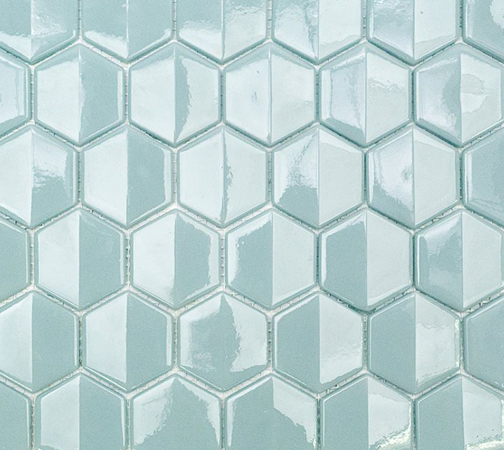 Baby Blue 3D Hexagon