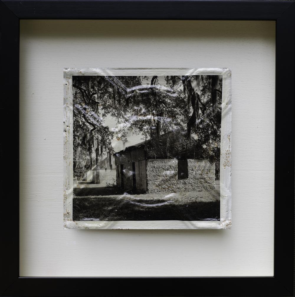 Ossabow Slave Cabin I Vintage Ceiling Tile Transfer Meryl Truett