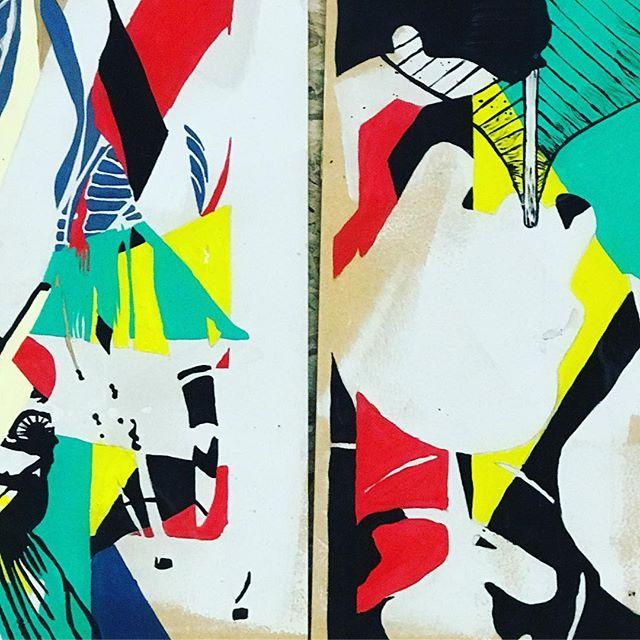 Side by side. #art #paintings