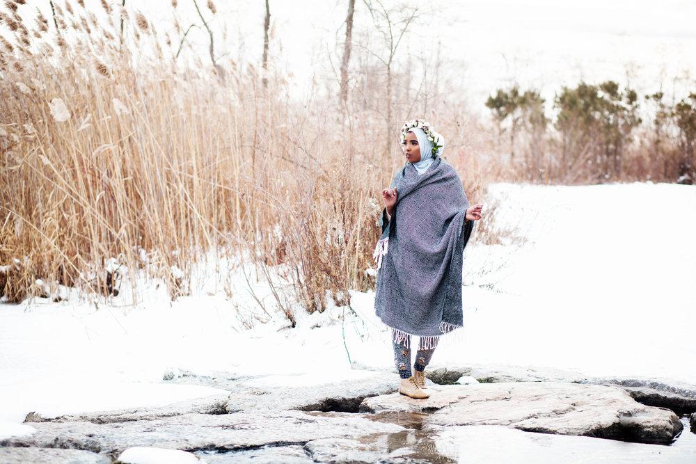 Somali Female Photographer Hijabi Toronto London Ottawa Eritrean Habesha Entrepreneur Karimah Gheddai Winter Portraits Muslim Canada