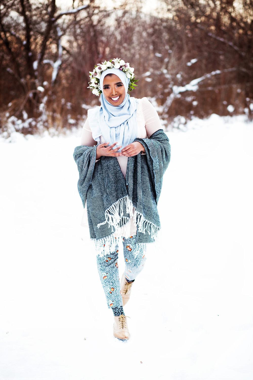 Somali Female Photographer Hijabi Toronto London Ottawa Eritrean Habesha Entrepreneur Karimah Gheddai Winter Portraits Muslim Canada Halima Jama