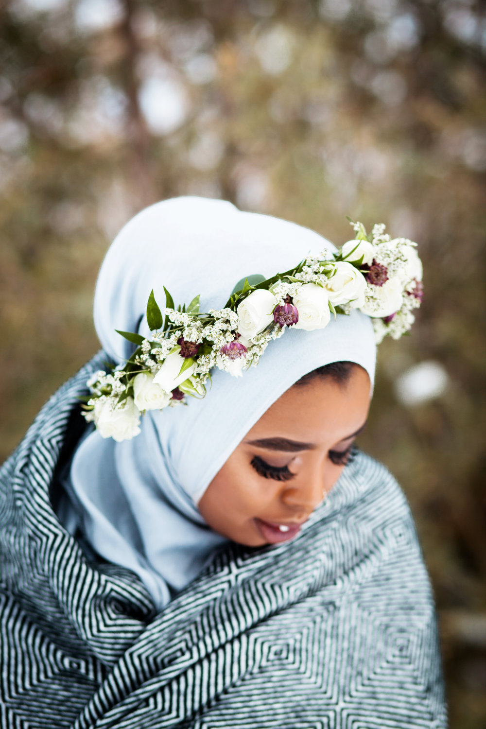 Somali Female Photographer Hijabi Toronto London Ottawa Eritrean Habesha Entrepreneur Karimah Gheddai Winter Portraits Muslim Canada Halima Jama Flower Crown