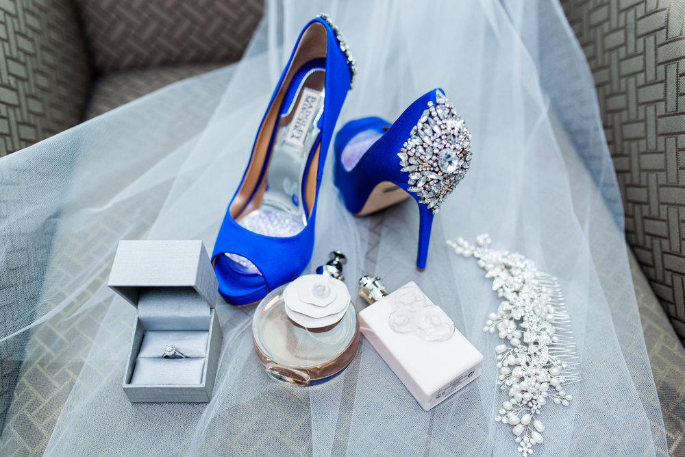 mischka badgley blue kiara peep toe pumps wedding toronto valentino perfume Karimah Gheddai Somali wedding ontario ottawa