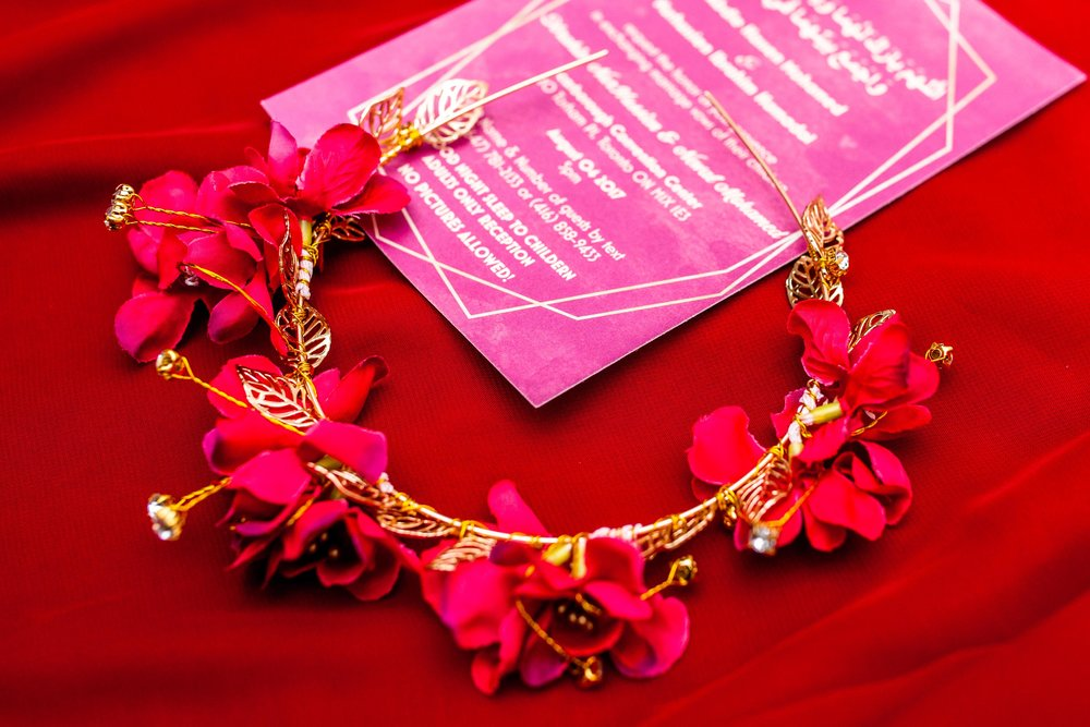 Wedding Details Red Eritrean Habesha Arab Wedding Toronto Scarborough Convention Centre Blog Markham Bliss Beginnings by Baneen Grand Stage Ethiopian Somali Canada Ontario Photographer Karimah Gheddai Wedding Invite