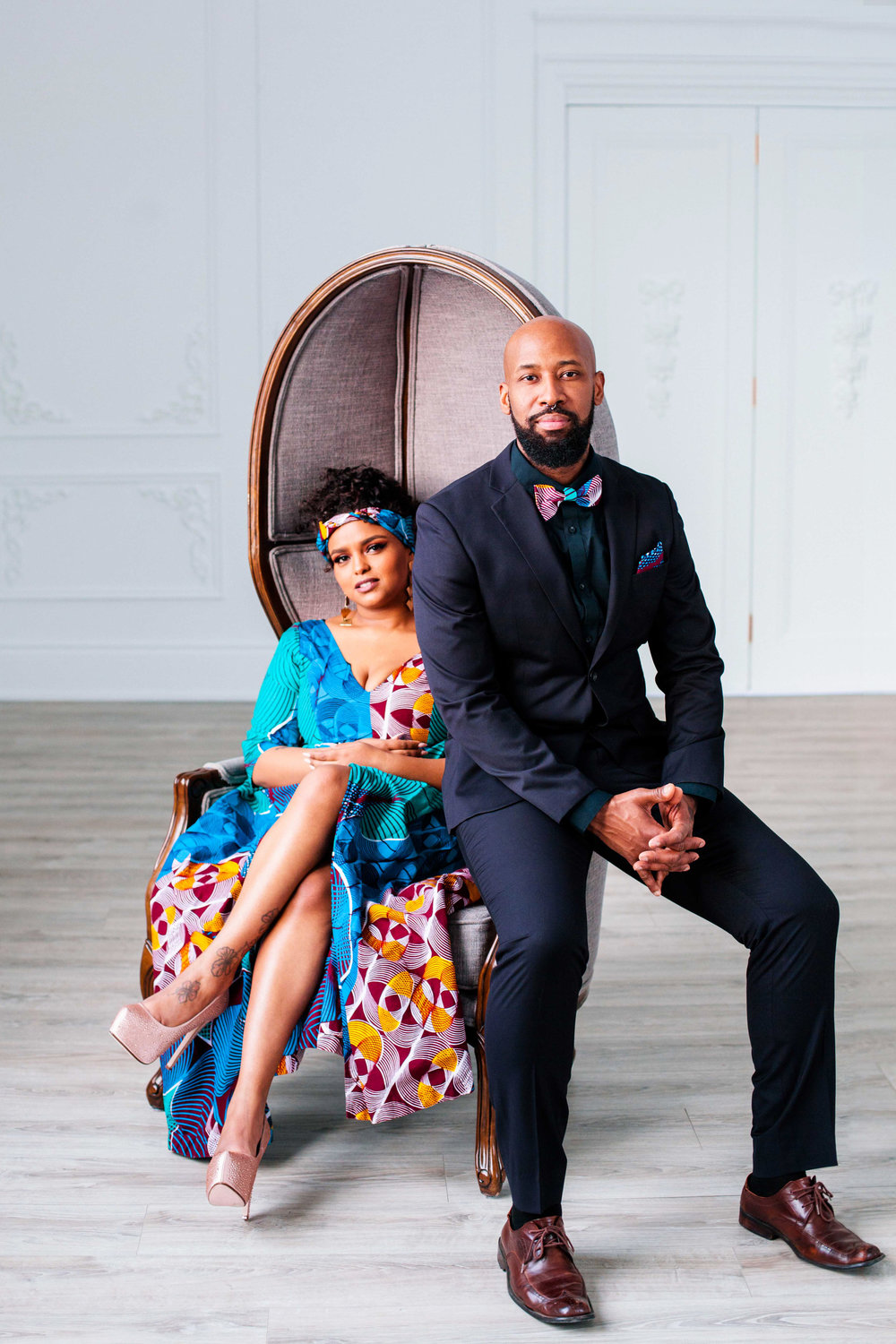 African Inspired Engagement Shoot Toronto Engagement Photographer Mint Room Studios Toronto Engagement Photography