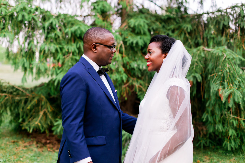 Wedding Photography Kenyan Canadian Photographer Karimah Gheddai Tyndale University College African Black couples Portraits Blue Suit International Multicultural Ontario Toronto Canada Groom Couple