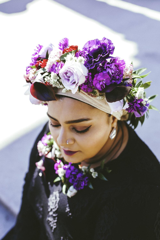 Toronto Photographer Purple Floral Crown Flower Crown Inspiration Canada Photography Portraits Photograph  photo shoot headshot color florist