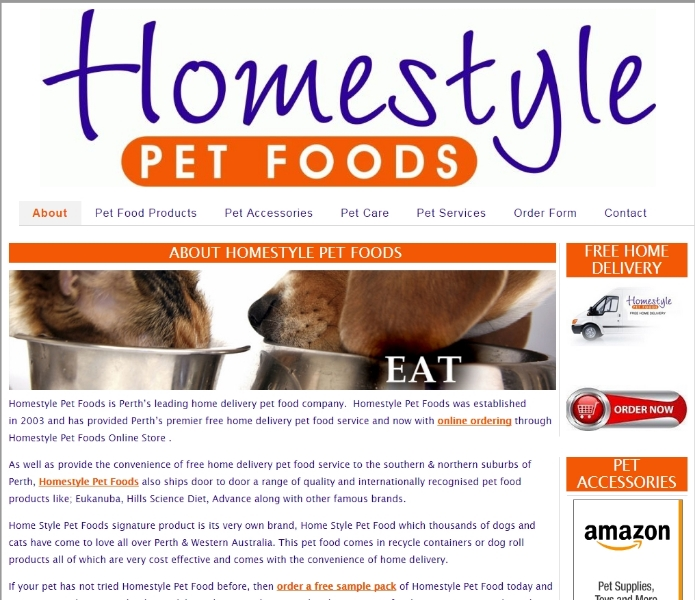 Homestyle Pet Foods Perth