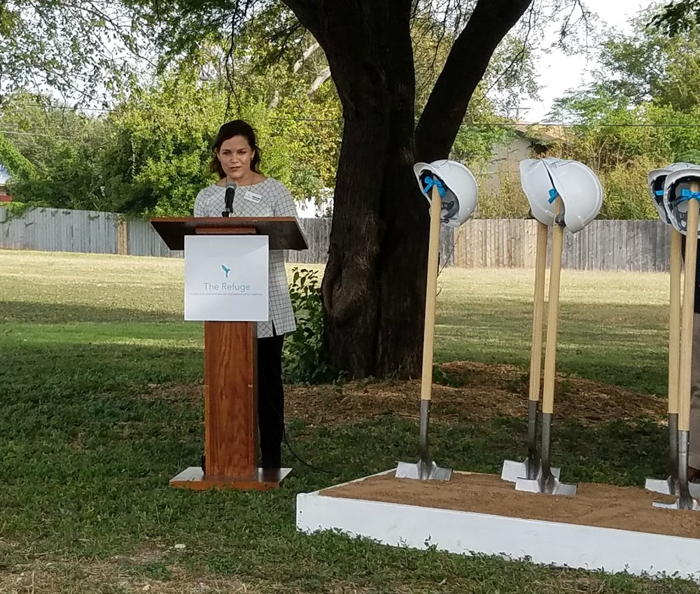 Brooke Crowder speaks at The Refuge Ranch Groundbreaking.