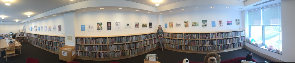 The complete Reading Library exhibit:   Alice Is...  (click to enlarge)