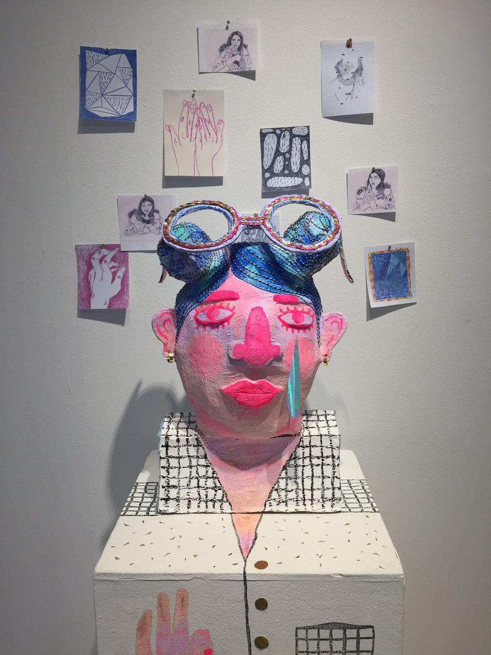 Aditi Damle's first paper mache sculpture, exhibited in ILP's Image Harvest show in fall 2016.