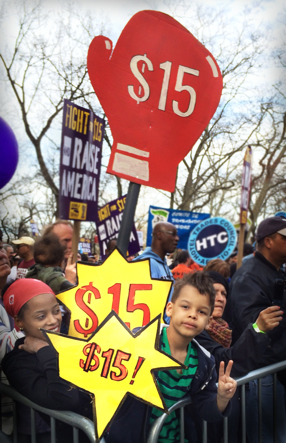 #FightFor15 Mass March and Rally