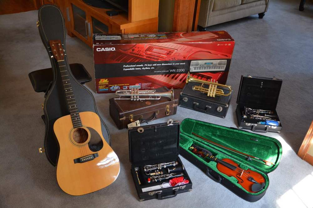 Not pictured: the guitar we'll be giving on April 18 at our Benefit Concert. It's a surprise!