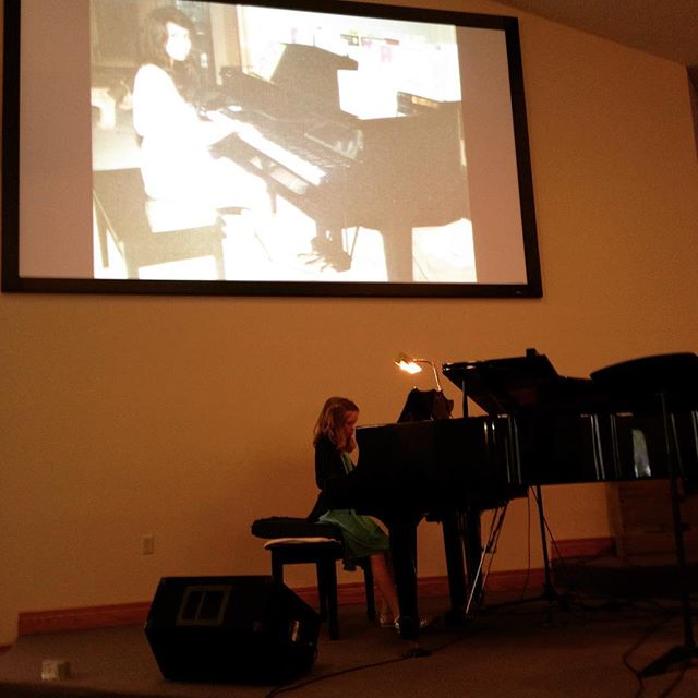 Enjoying Corinne playing Für Elise, one of Alyssa's favorite songs, at the second annual benefit recital at Village Bible Church in Sugar Grove