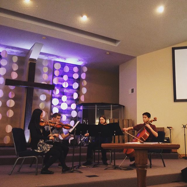 Grace (violin), Raimon (violin), Maia (viola), and Dean (cello) preform a beautiful arrangement of Somewhere Over the Rainbow at the Benefit Concert for the Alyssa Alvin Foundation for Hope