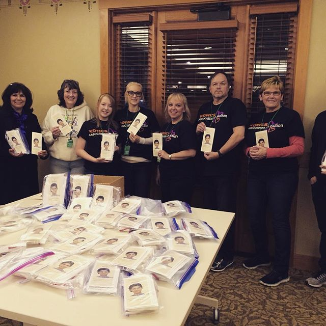 Kohl's associates in action volunteer to help Alyssa Alvin Foundation for Hope prepare 50 sculpey clay art packages at RMH in Winfield and joined Kevin, board member and Yoli, AAFH President.
