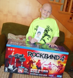 Name: Drew   Age: 8   Hometown:  Chicago, IL   Gift:  Rock Band PS4   Read more...