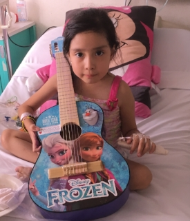 Name:  Rafaela Age:  7 Hometown:  México City, México Gift: Guitar - Frozen Characters (private donation)  Read more...