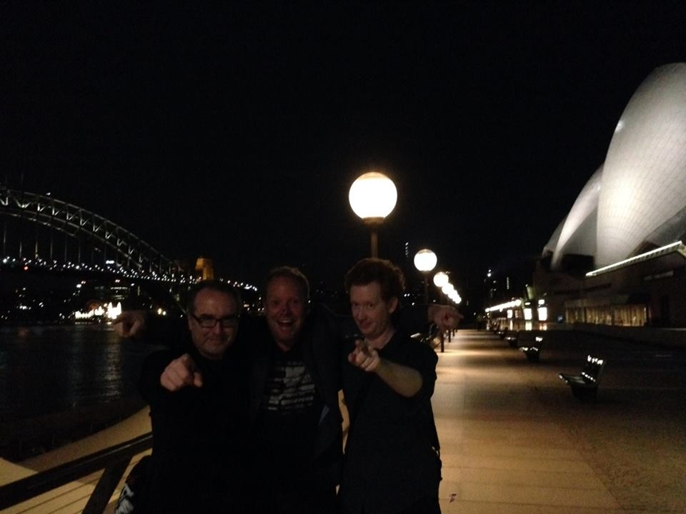 Peter Helliar, Luke McGregor and for once I wasn't taking the photo...thanks Ronny Chieng.