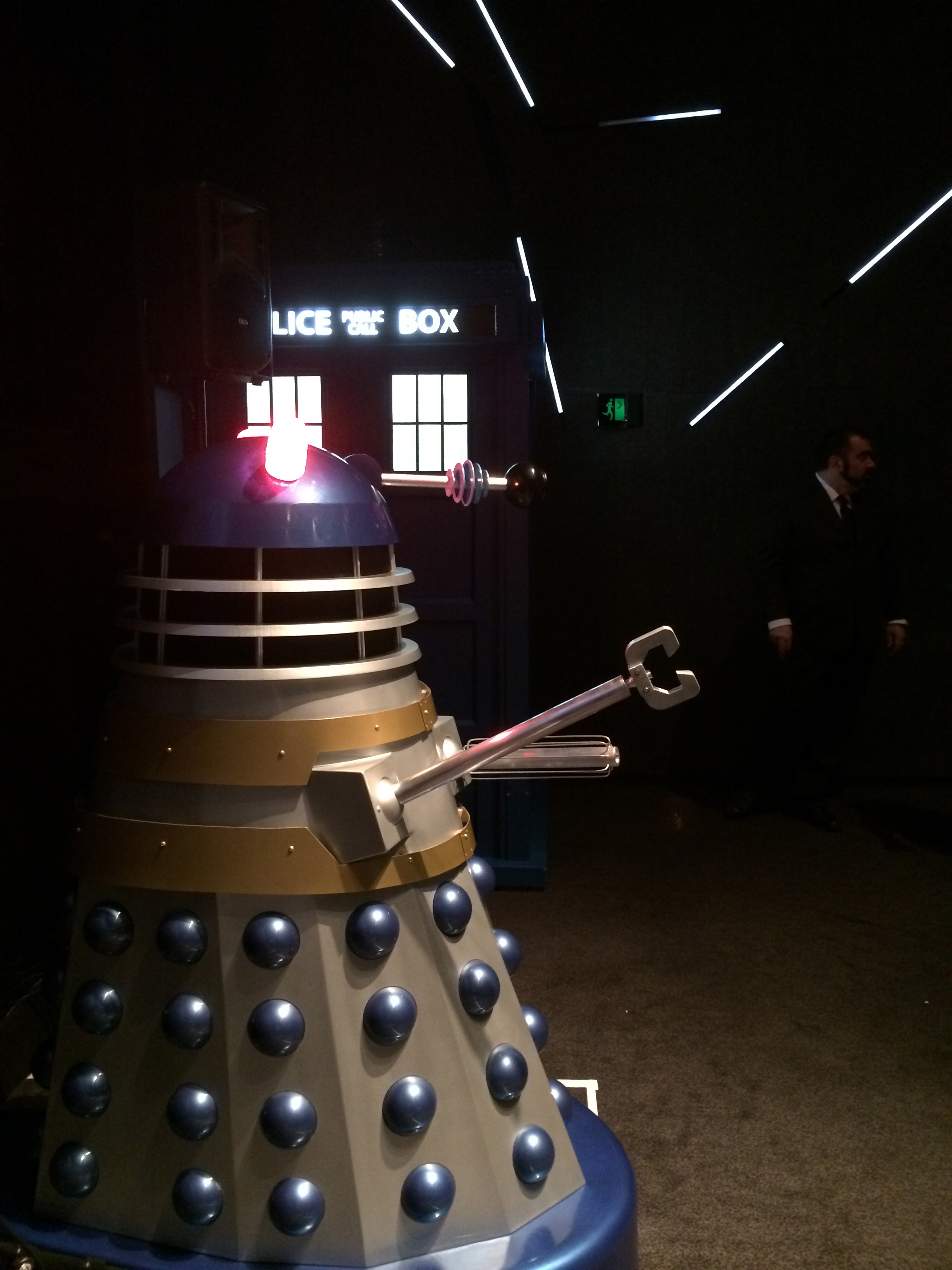 This Dalek turned out to be rubbish at stand up, all hack and an inability to read the room.