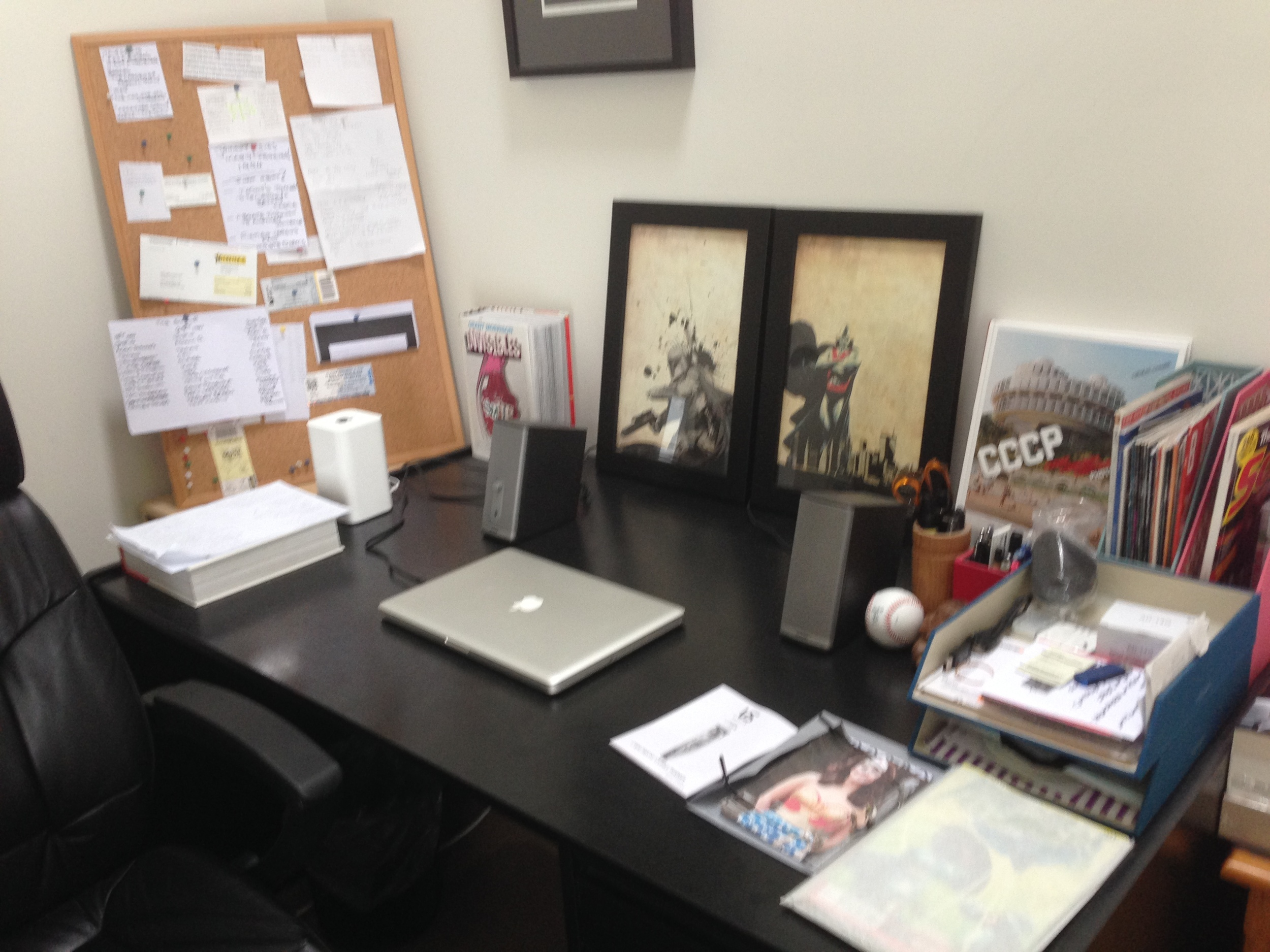 A nice clean desk helps relaxes my inner Virgo.
