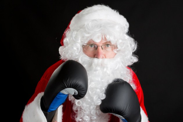 Santa before fight number two when he was heavy weight champ of the world.