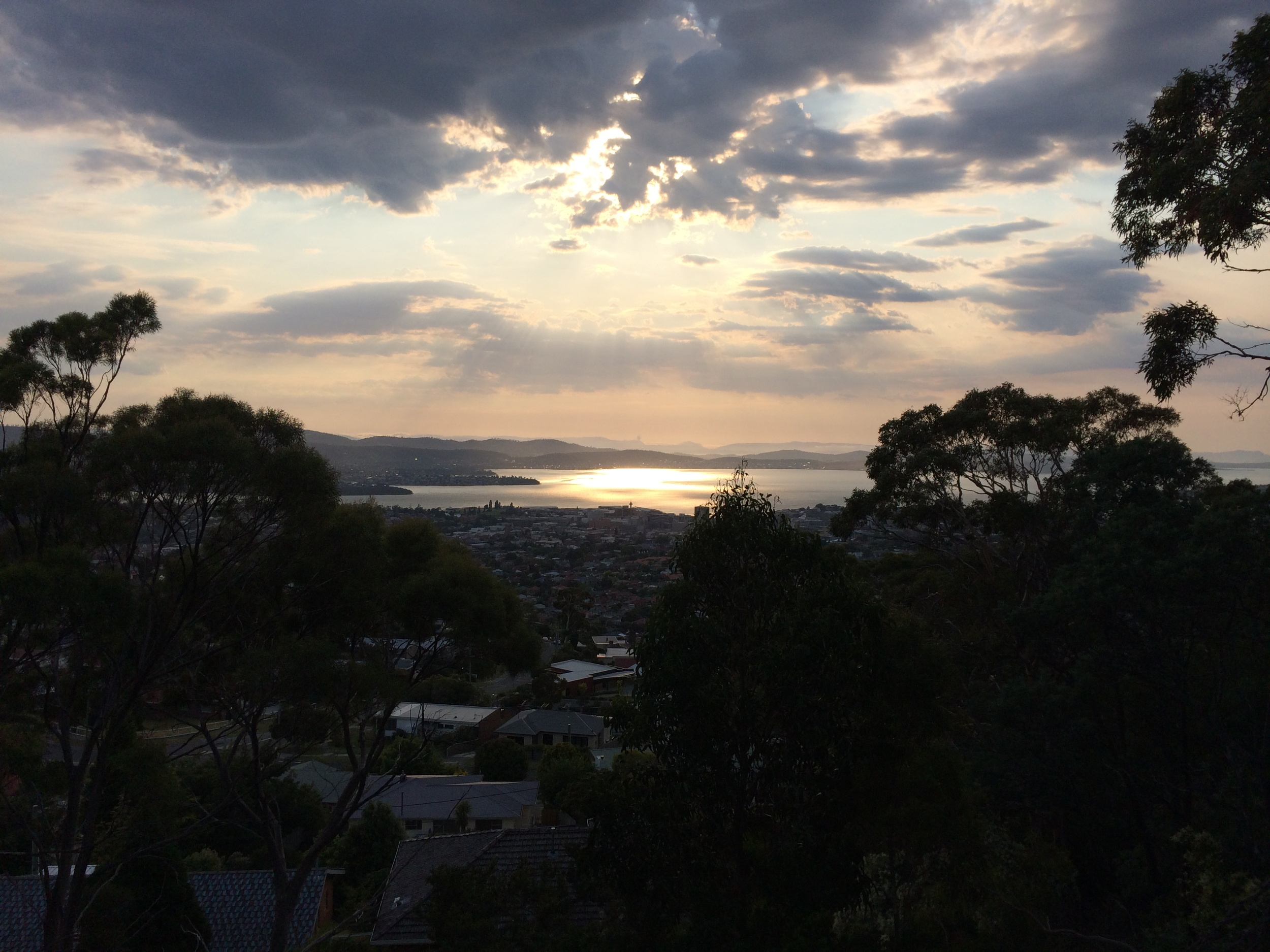 This was my view of Hobart halfway through my early morning walk.