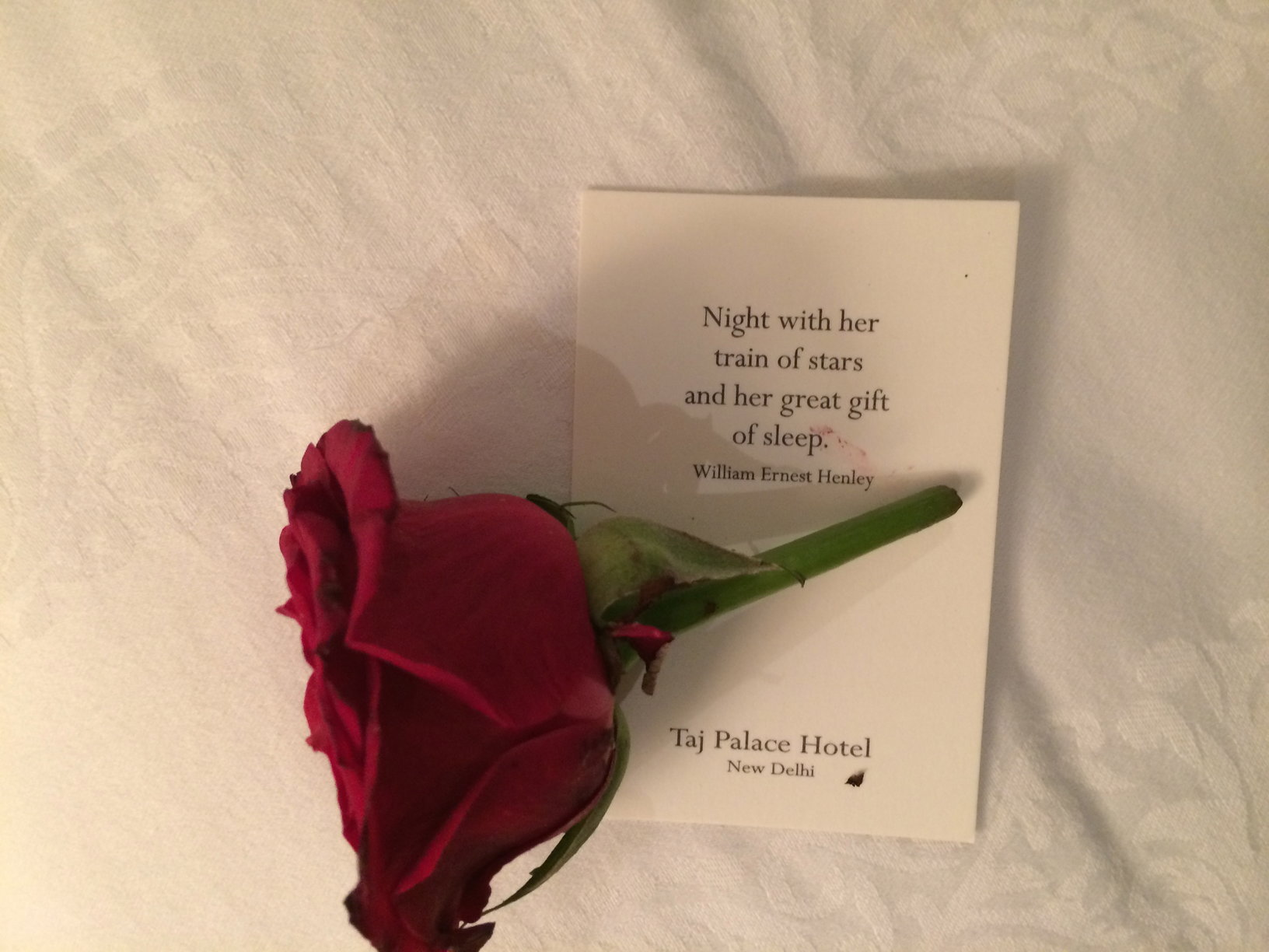 What a romantic note to help you spend a night alone.  Awww...