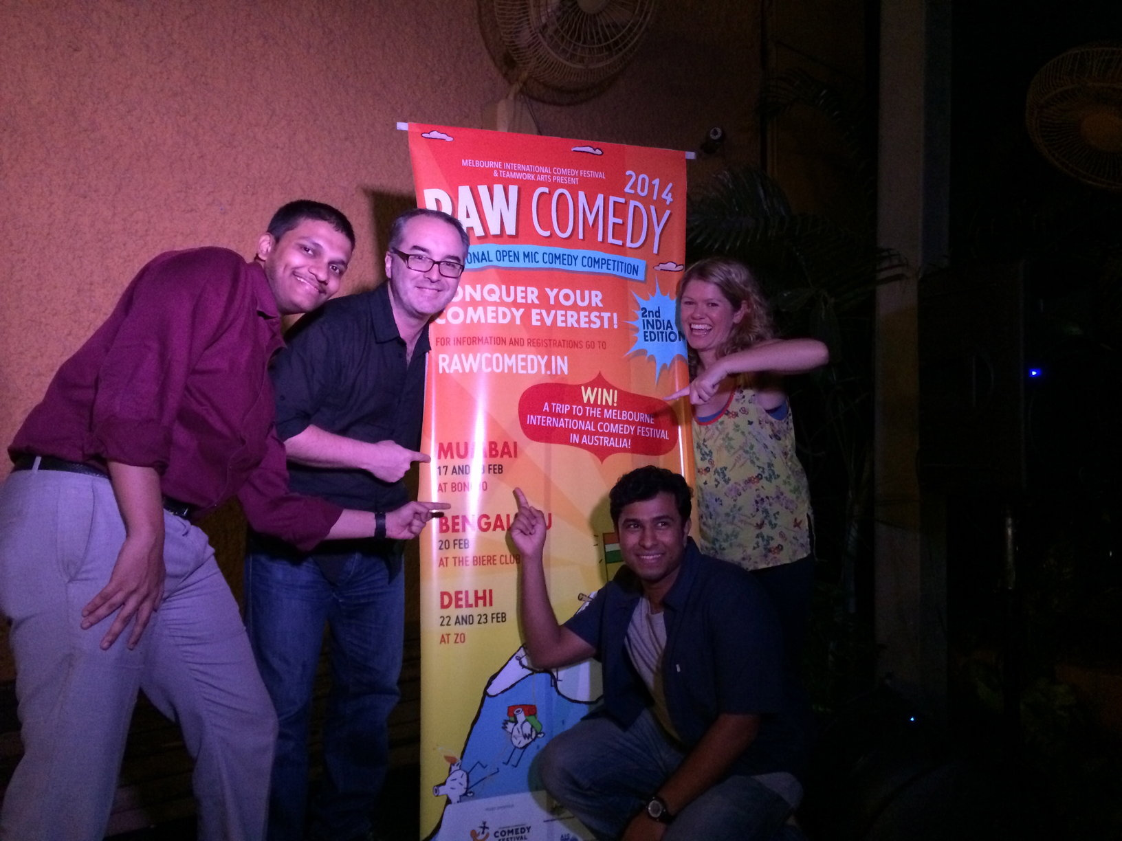 Here are Kate and I with the winners Akshay Shinde and Abish Matthew.