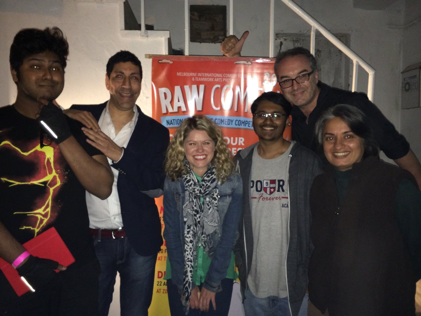 Here we are with the winners Utsav, Rajneesh, Kate, Rohan, this idiot and Vasu.