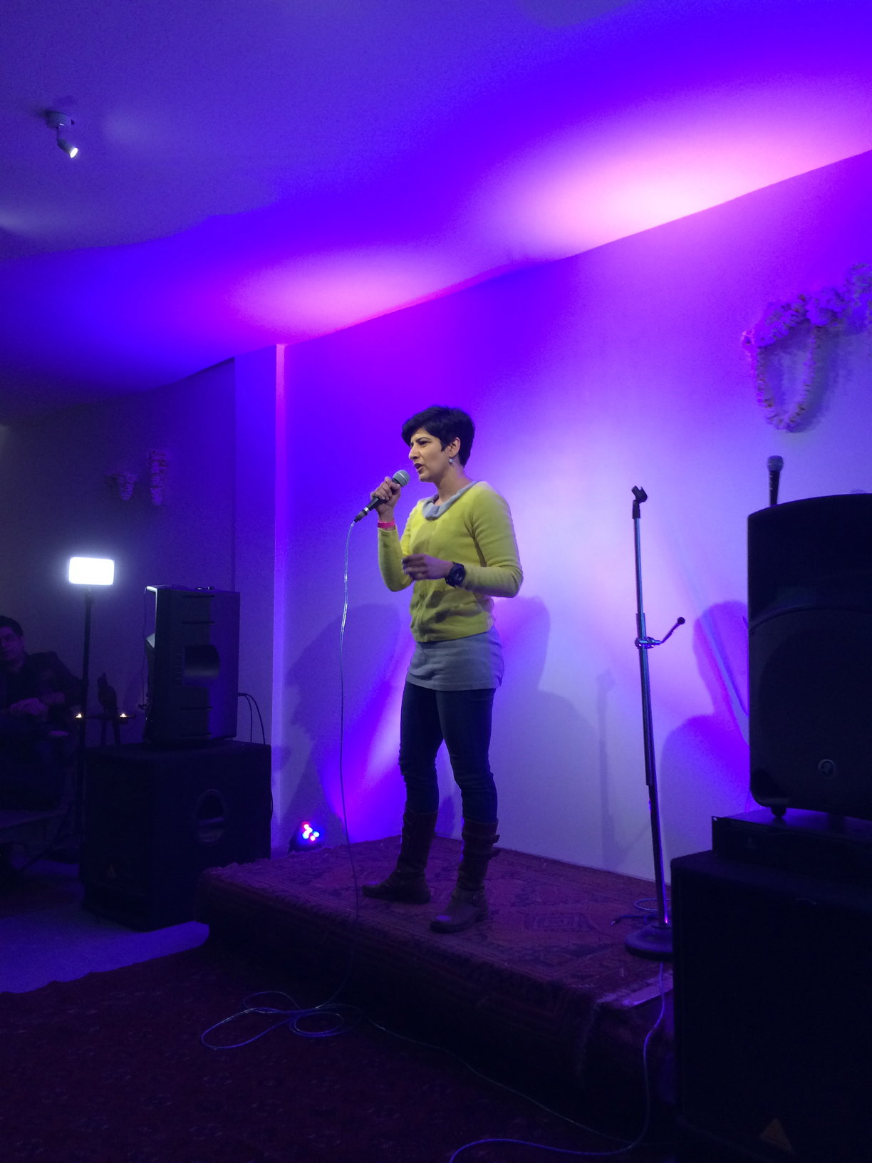 Neeti Palta was last year's winner and not only helped judge but also performed a spot at the show.