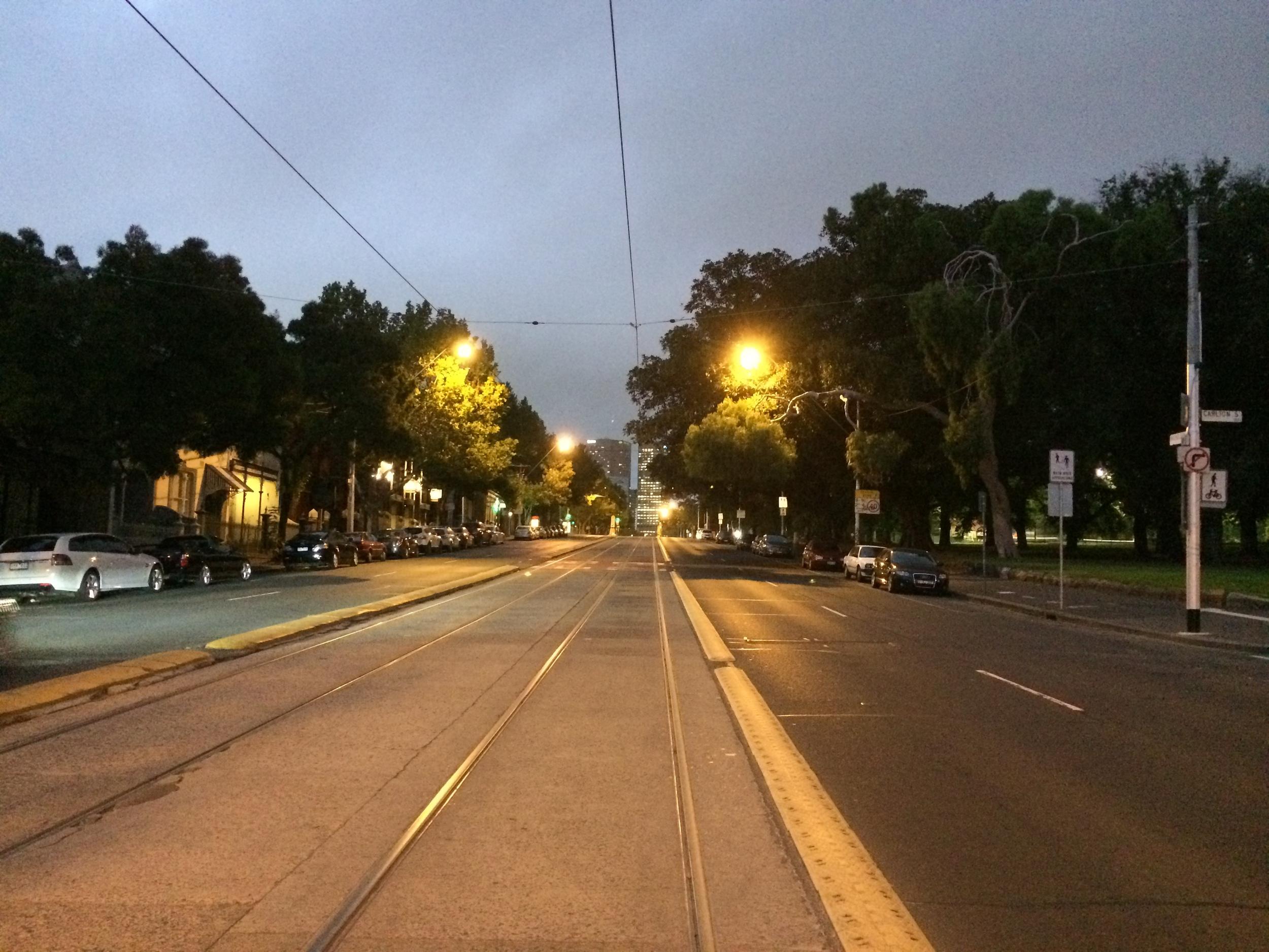 Nicholson St was deserted at 7.30am.