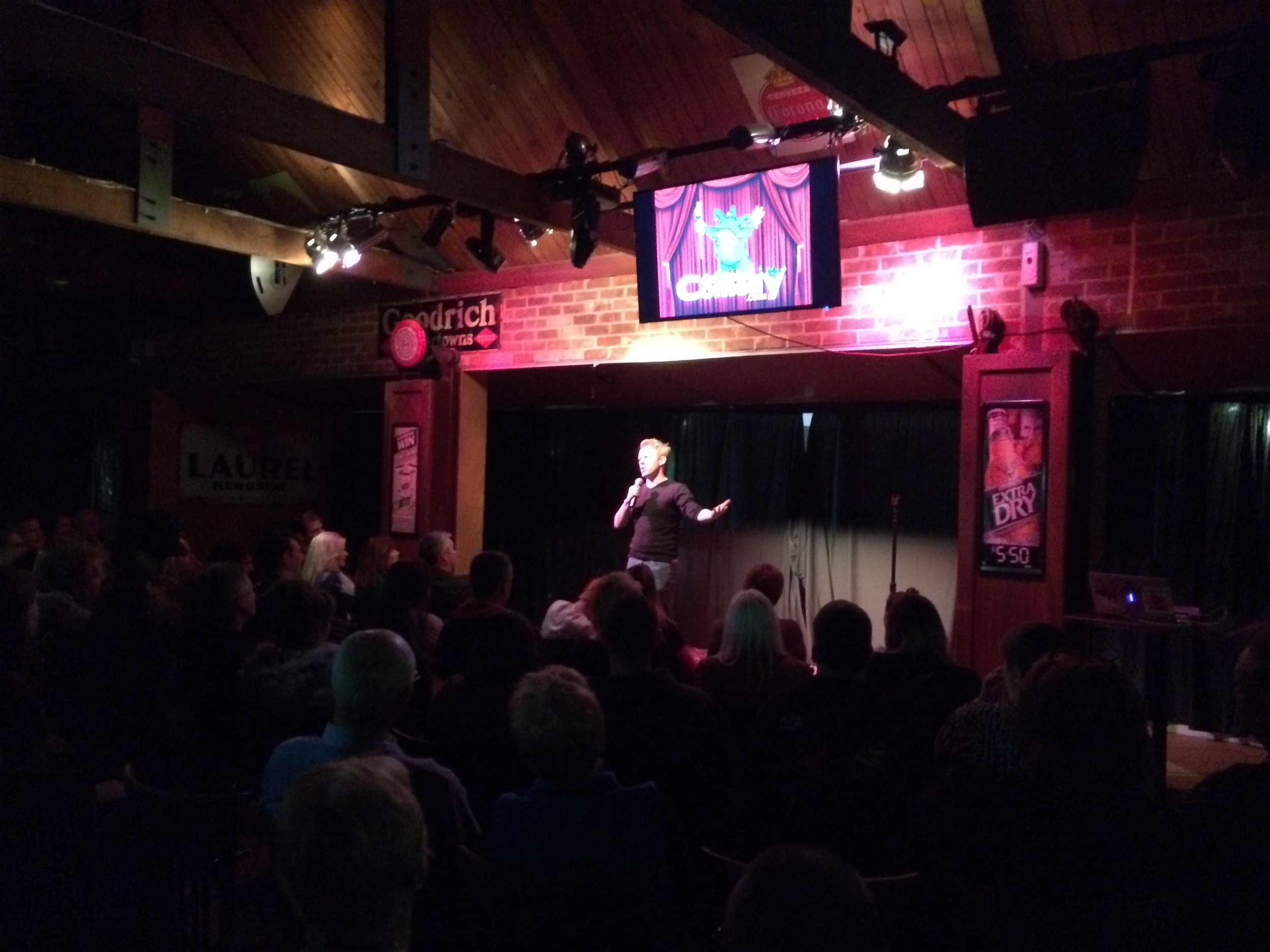 Graham Self performing for the packed audience.