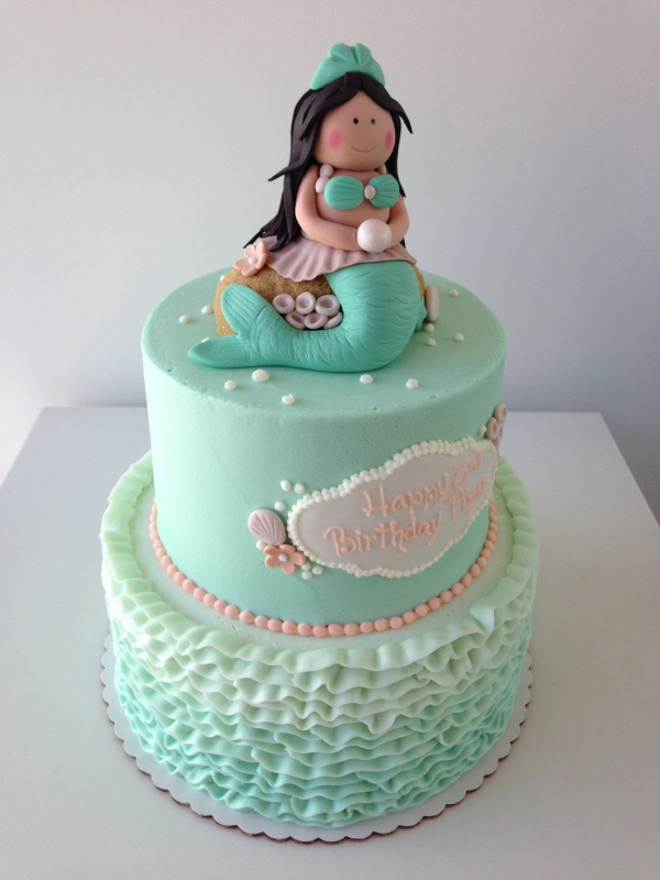 Cynthia designs and crafts all of her custom cakes for each client.