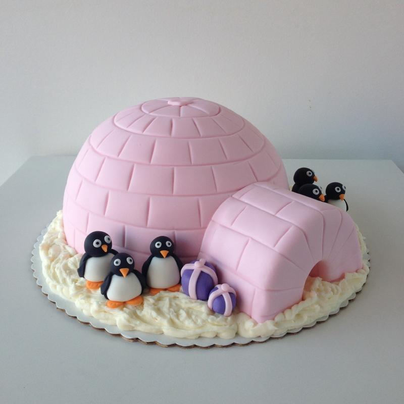Crave Custom Igloo and Penguin Cake