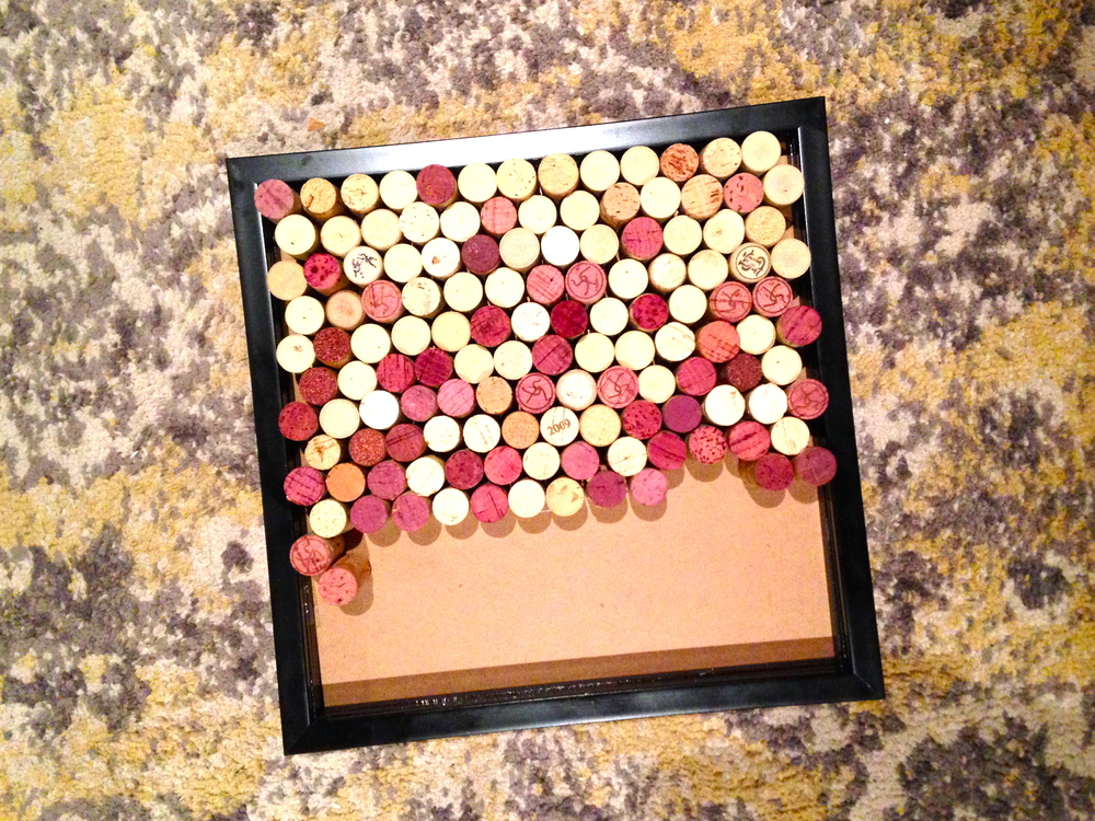 2/3 of a wine cork board project