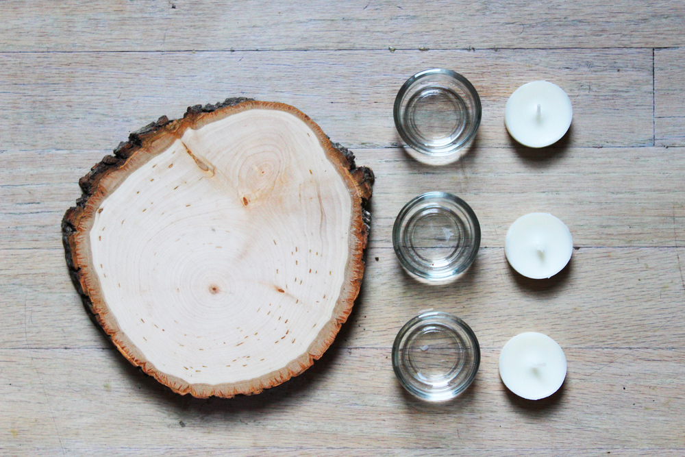 how to: wooden tea light votive holder