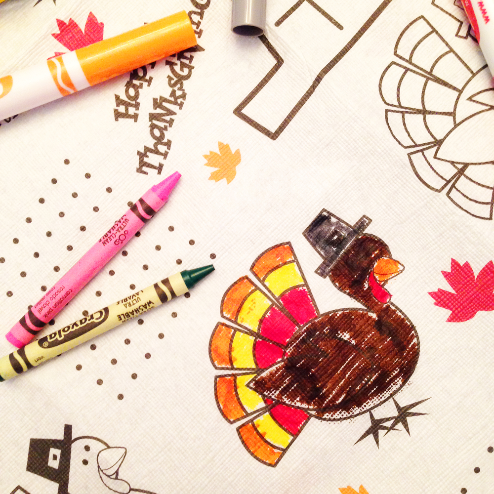 coloring at thanksgiving